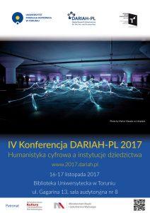 IV Konferencja DARIAH-PL 2017 Humanistyka cyfrowa a instytucje dziedzictwa www.2017.dariah.pl